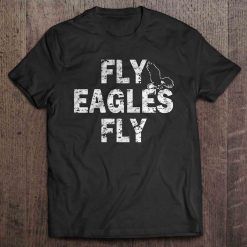 Fly Eagle Fly Philadelphia Print T Shirt Short Sleeve O Neck Eagle Tshirts