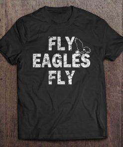 Fly Eagle Fly Philadelphia Print T Shirt Short Sleeve O Neck Eagle Tshirts