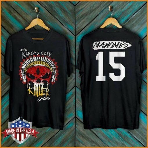 Freeship Chiefs Skull T Shirt Kansas City 15 Mahomes 2020 Unisex Tee Full Size