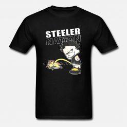 Funny Men t shirt Women novelty tshirt Steeler Nation TShirt cool T Shirt