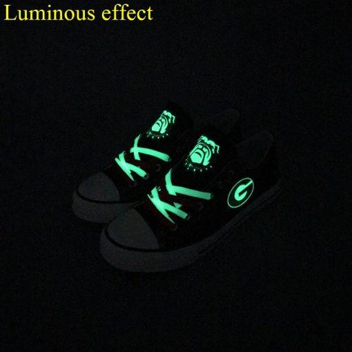 GeorgiaBulldogs Limited Luminous Low Top Canvas Sneakers