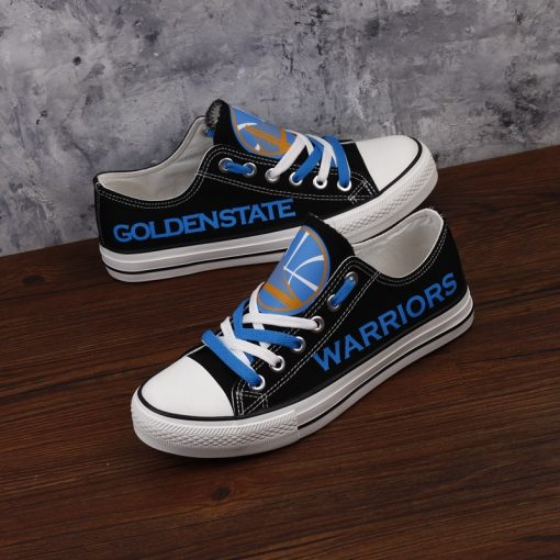 Golden State Warriors Limited Fans Low Top Canvas Sneakers
