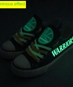 Golden State Warriors Limited Luminous Low Top Canvas Sneakers