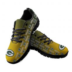 Green Bay Packers Custom 3D Print Running Sneakers