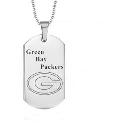 Green Bay Packers Engraving Tungsten Necklace