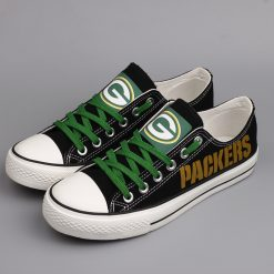 Green Bay Packers Limited Low Top Canvas Shoes Sport