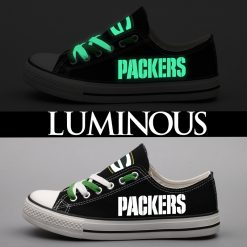 Green Bay Packers Limited Luminous Low Top Canvas Sneakers