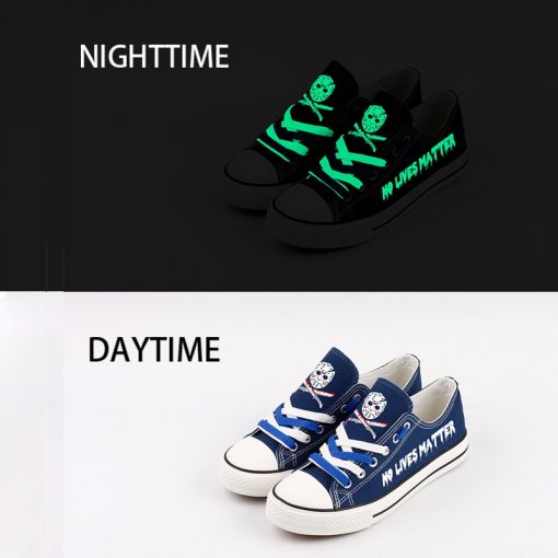 Halloween Friday the 13th Jason Voorhees Low Top Canvas Shoes Sport