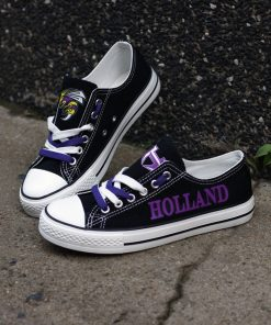 Holland Hornets Limited High School Students Low Top Canvas Sneakers