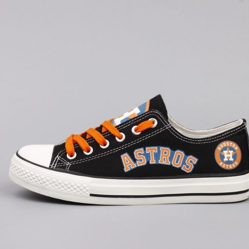 Houston Astros Limited Print Low Top Canvas Shoes Sport