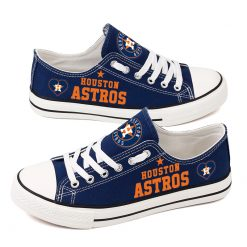 Houston Astros Fans Low Top Canvas Shoes Sport
