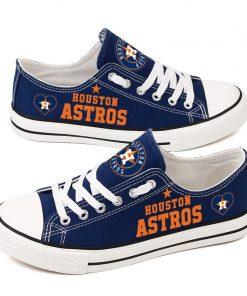 Houston Astros Fans Low Top Canvas Shoes Sport