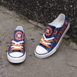 Houston Astros Low Top Canvas Sneakers