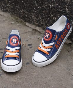 Houston Astros Low Top Canvas Sneakers