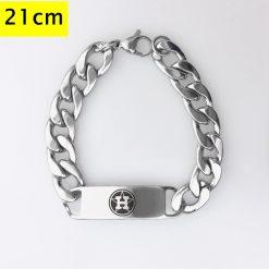 Houston Astros Men Fashion Wristlet Stainless Steel Bracelet