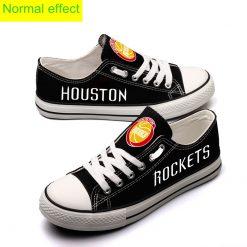 Houston Rockets Limited Luminous Low Top Canvas Sneakers