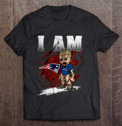 I Am New Streetwear Harajuku England 100 Cotton Men S Tshirt Patriots Groot Tshirts