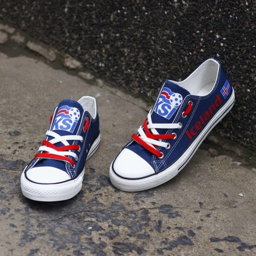Iceland National Team Low Top Canvas Sneakers