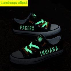 Indiana Pacers Limited Luminous Low Top Canvas Sneakers