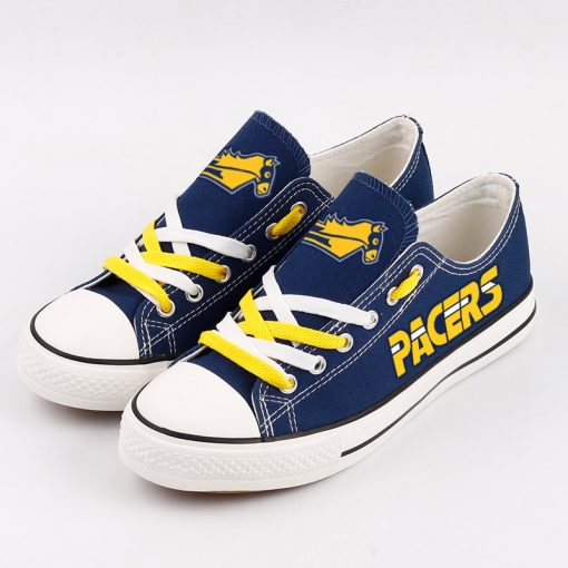 Indiana Pacers Fans Low Top Canvas Sneakers