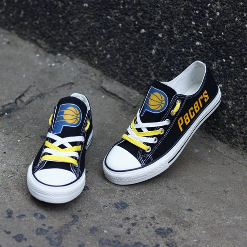 Indiana Pacers Low Top Canvas Sneakers