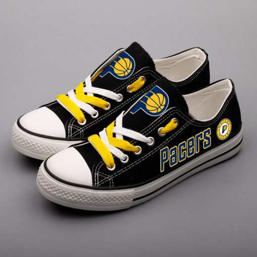 Indiana Pacers Low Top Canvas Shoes Sport