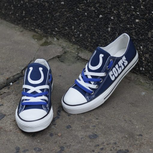 Indianapolis Colts Limited Low Top Canvas Shoes Sport