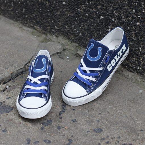 Indianapolis Colts Limited Luminous Low Top Canvas Sneakers