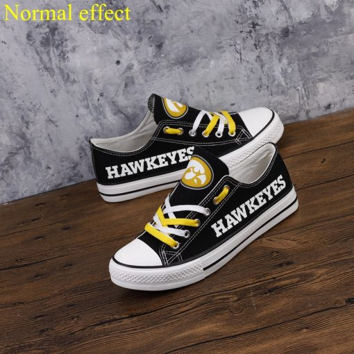 Iowa Hawkeyes Limited Luminous Low Top Canvas Shoes Sport
