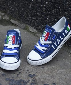 Italy National Team Low Top Canvas Sneakers