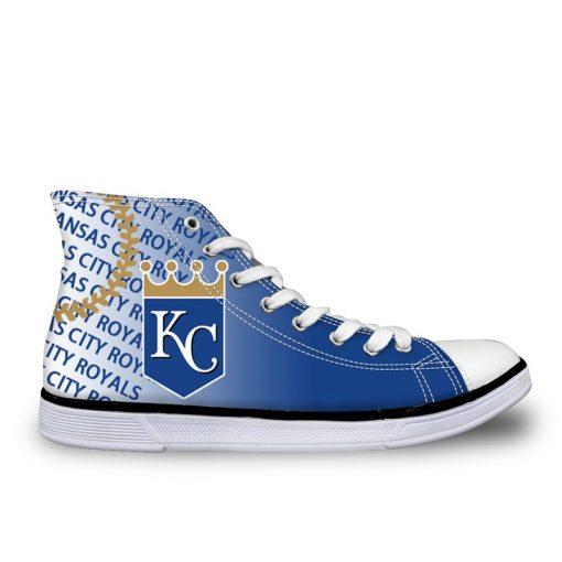 Kansas City Royals 3D Casual Canvas Shoes Sport