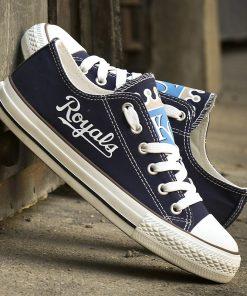 Kansas City Royals Limited Low Top Canvas Shoes Sport