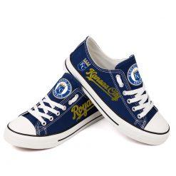 Kansas City Royals Limited Fans Low Top Canvas Shoes Sport