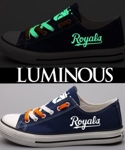 Kansas City Royals Limited Luminous Low Top Canvas Sneakers