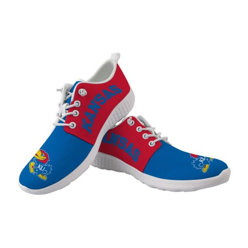 Kansas Jayhawks Customize Low Top Sport Sneakers College Students