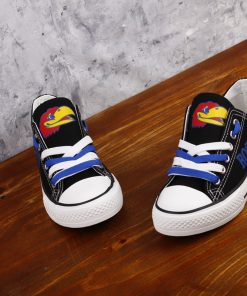 Kansas Jayhawks Limited Fans Low Top Canvas Shoes Sport