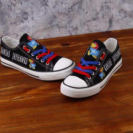 Kansas Jayhawks Limited Fans Low Top Canvas Sneakers