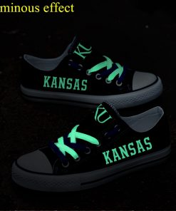Kansas Jayhawks Limited Luminous Low Top Canvas Sneakers