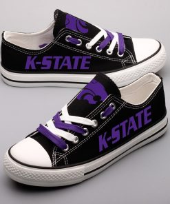 Kansas State Wildcats Limited Low Top Canvas Shoes Sport