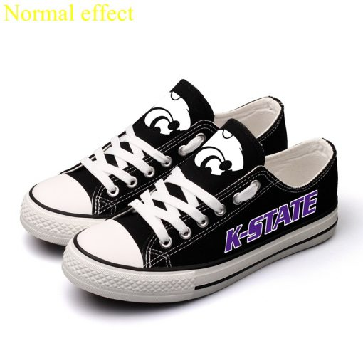 Kansas State Wildcats Limited Luminous Low Top Canvas Sneakers