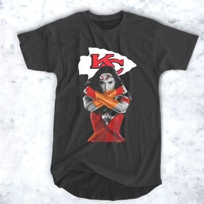 Kc Kansas City Chief Wallpaper Female Superhero T Shirt For Men And Women