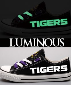 LSU Tigers Limited Print Luminous Low Top Canvas Sneakers