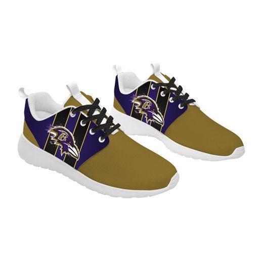 London Style Breathable Men Women Running Shoes Custom Baltimore Ravens