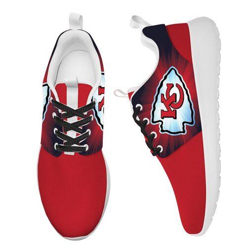 London Style Breathable Men Women Running Shoes Custom Kansas City Chiefs