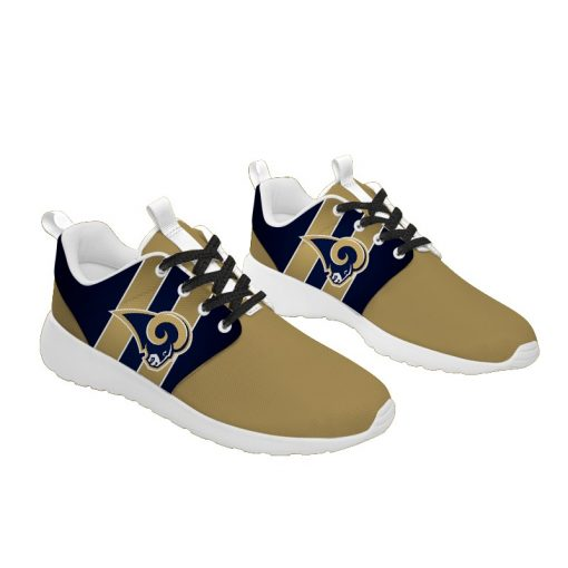London Style Breathable Running Shoes Custom Los Angeles Rams