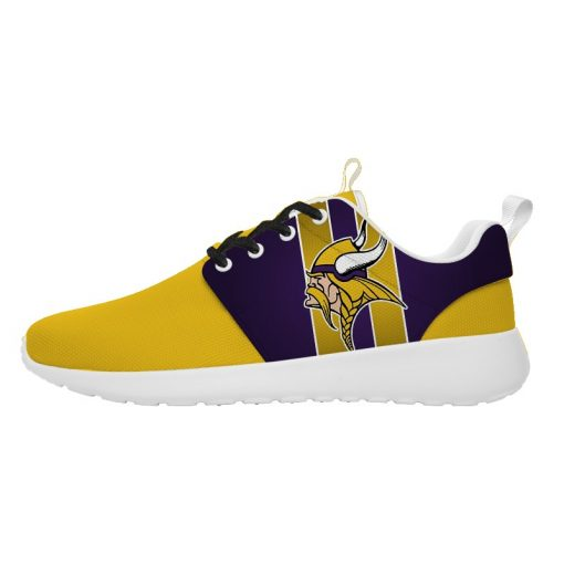 London Style Breathable Men Women Running Shoes Custom Minnesota Vikings