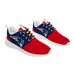 London Style Breathable Men Women Running Shoes Custom New England Patriots