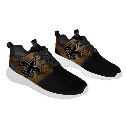 London Style Breathable Men Women Running Shoes Custom New Orleans Saints