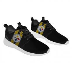 London Style Breathable Men Women Running Shoes Custom Pittsburgh Steelers