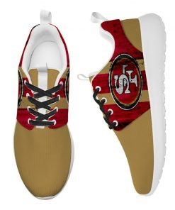 London Style Breathable Men Women Running Shoes Custom San Francisco 49ers